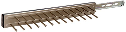 Rev-A-Shelf TRC-14CR 14-Inch Side Mount Extending Closet Tie Organization Rack Holder, Satin Nickel