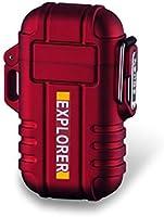 Plasma Lighter Waterproof Windproof Electronic Dual Arc USB Rechargeable flameless Lighter (Orange/Camo/Black/Red/Blue