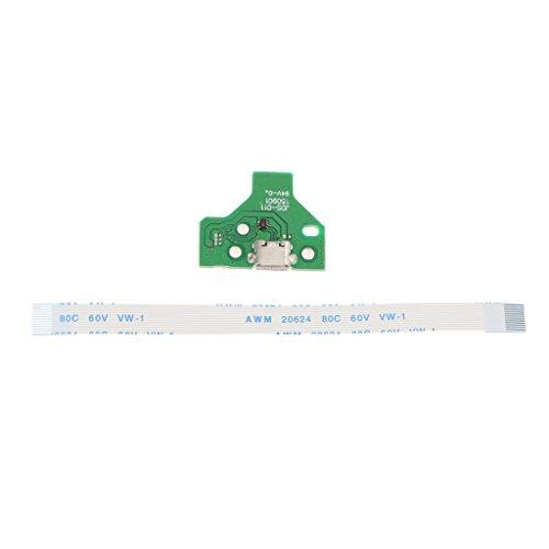 Ersatz USB-Anchluss Platine Board JDS-011 mit 12-Pin Flex Flachkabel für SONY PS4 DualShock Controller