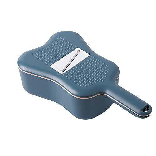 Karid Vegetable Chopper, Multifunctional Round Slicer Grinder-Potato Spiralizer Cutter Grater/Manual Kitchen Accessories Gadget Tool,dark blue