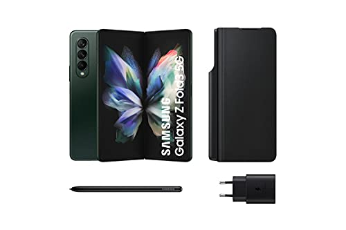 Samsung Galaxy Z Fold3 5G – Teléfono móvil sin tarjeta SIM, Android, Plegable, Smartphone, 256 GB, Verde + Note Pack (Version ES)