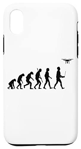 Evoluzione Di Uomo - Fuco Pilota Edizione Bianca Custodia Cassa Del Telefono Per iPhone XR Corazza Dura Con Strato Di Silicone All'interno Phone Case