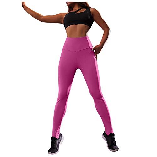 Rickitrty High Waist Leggings for Women Butt Lift Tummy Control Yoga Pants Workout Booty Scrunch Tights Workout Leggings Pink