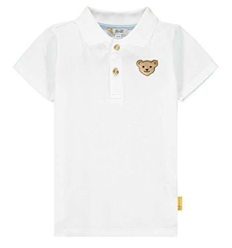 Steiff Jungen Poloshirt, Weiß (Bright White 1000), (Herstellergröße: 116)