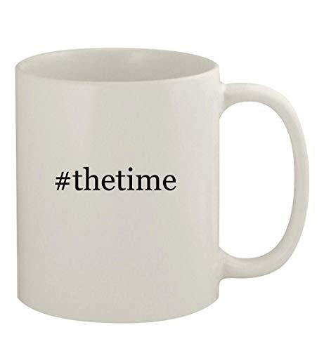 #thetime - 11oz Ceramic White Coffee Mug, White