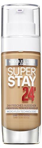 Maybelline New York Super Stay 24H Make-Up Sun Beige 48 / Schminke in einem Hautfarben-Ton, für eine langanhaltende Abdeckung und einen makellosen Look, 1 x 30 ml