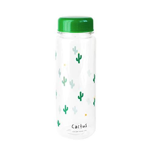 emartbuy 500 ml Durchsichtiger Kunststoff Wasser Saft Flasche Sport Reise - Kaktus
