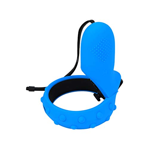 QUICATCH Compatible for Oculus Quest for Oculus Rift S VR Silicone Case Cover Pouch Dust-Proof Shockproof Protective 1 Pair (Blue)