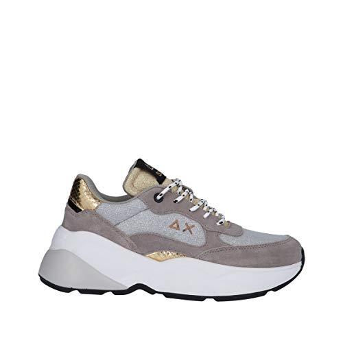 Sun 68 Sneakers Alte Donna Modello Dani Thin Glitter Colore Grigio Chiaro Z31226 06 (Numeric_41)