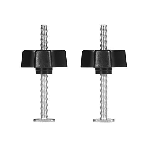 2pcs Metallschnell Klemmhalter Niederhalter für T-Nut Holzbearbeitung Werkzeug(T Schraube + M8 Kunststoffgriff)