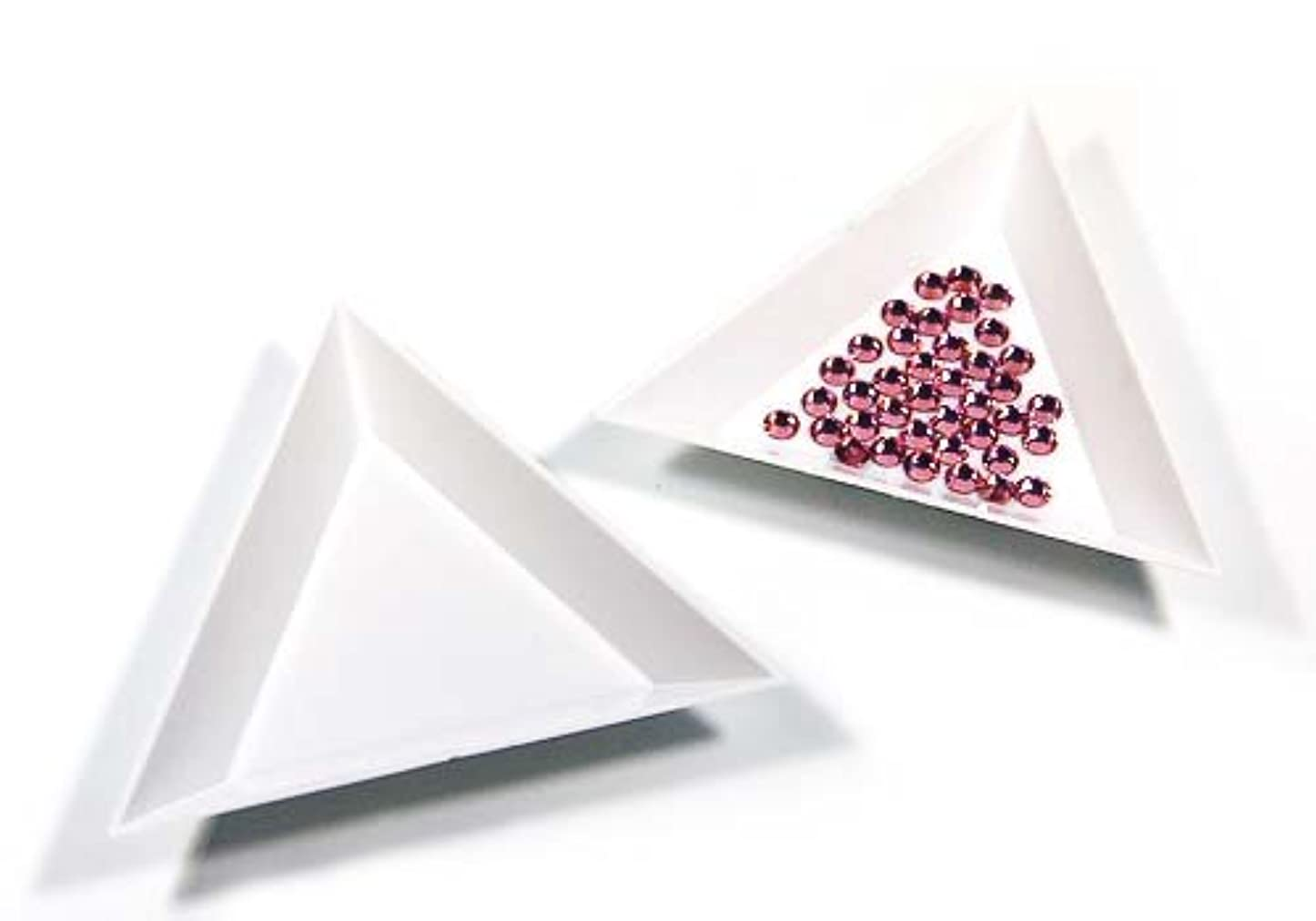 ゼリー触覚プライバシー【ラインストーン77】三角ビーズトレイ 3個セット デコ用品