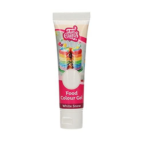 Funcakes - Colorante concentrado en Gel para chocolate, cremas, fondant (Blanco)
