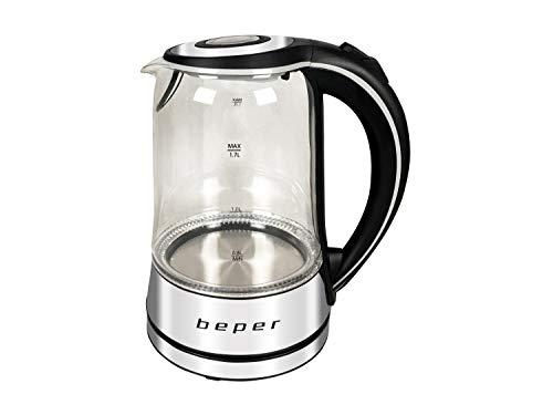 BEPER BB.104 Bouilloire Electrique LED, Verre