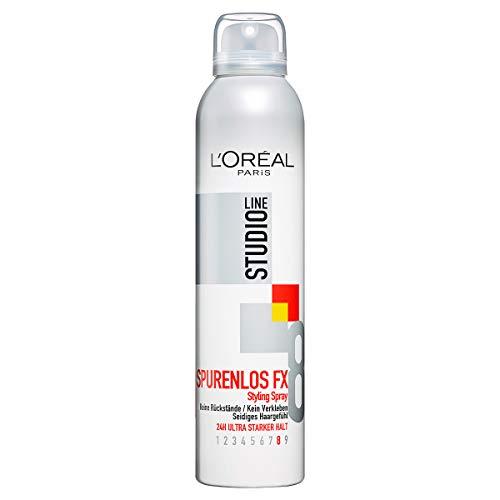 L'Oréal Paris Studio Line Ultra-leichtes Haarspray, 24h ultra-starker Halt, Kein Verkleben, Spurenlos FX Styling Spray, 6 x 250 ml