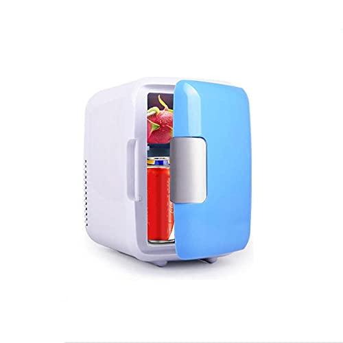 FIONAT Mini refrigerador de coche 4L 12V enfriador y calentador refrigerador para calentar alimentos nevera portátil eléctrica caja de viajepara acampar 17,5 * 24 cm