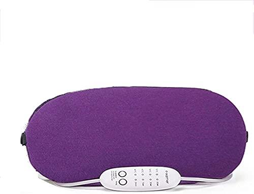 Mascarilla de Ojos de Noche Suave y cómoda para Hombres Mujeres Oye Blinder Travel Sleeping Shift Funciona una Noche Completa (Color : Purple)