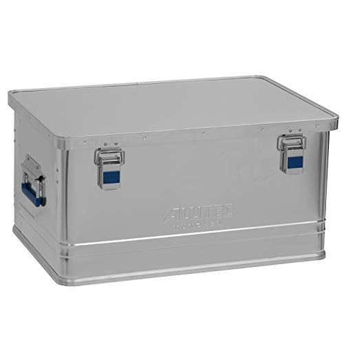 ALUTEC MÜNCHEN Transportkiste Office 74 - Aluminium Büro Box 74 Liter mit Deckel verschließbar