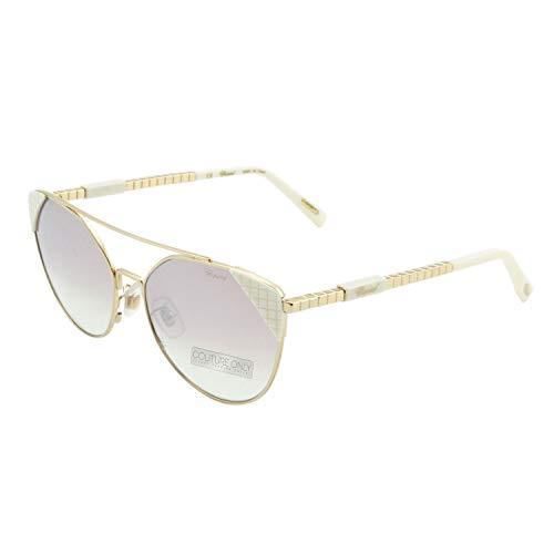 Chopard SCHC 40 - Gafas de sol, color blanco y dorado