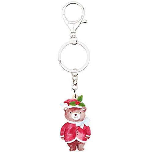 HXYKLM acryl kerst zoete sleutelhangers sleutelhangers auto portemonnee tas schattig sleutelhangers vrouwen meisje tiener bedeltjes partij gift