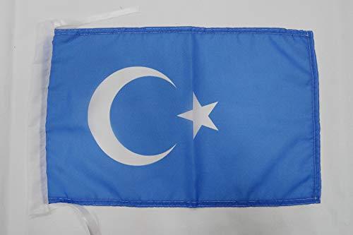 AZ FLAG Flagge ISLAMISCHE TURKESTAN 45x30cm mit Kordel - TURKESTAN Fahne 30 x 45 cm - flaggen Top Qualität