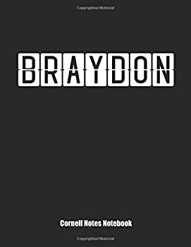 Paperback Cornell Notes Notebook : Cornell Note Paper Notebook. Blank Books for College Students. Large College Ruled Medium Lined Journal Note Taking System for School and University. Personalized Name: Braydon Book