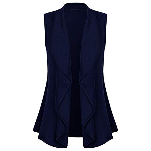 Hffan Damen Strickjacke Cardigan Pullover Blazer Oberteil Open Front Jacke Mantel Langarm Loose mit Taschen