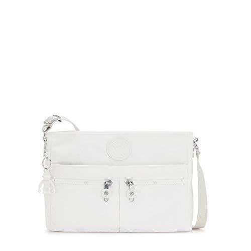 Kipling Women's Angie Crossbody Bag, New Alabaster, 10.5'L X 8'H X 2'D
