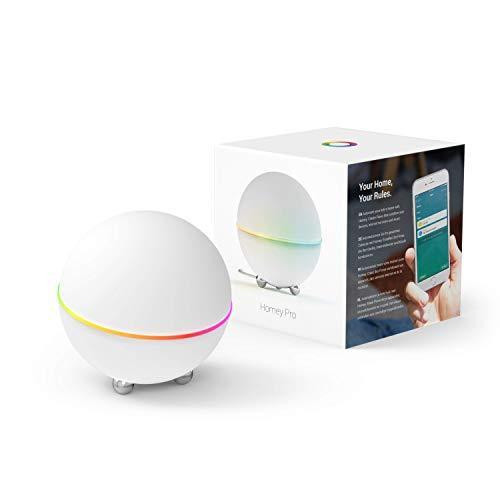 Homey Pro | Smart Home Hub für den Poweruser. Hausautomatisierungs-Zentrale [kompatibel mit Alexa, Google Home, Homekit]. Enthält Z-Wave, Zigbee, WLAN, BLE, 433MHz, Infrarot, KNX-IP
