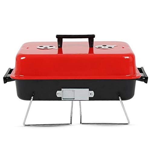 Read About Portable Metal Iron Charcoal BBQ Cooking Grill Stainless Steel Outdoor Camping Barbecue T...