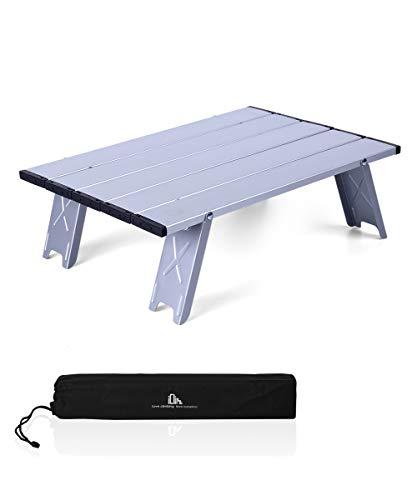 iClimb アウトドアテーブル ミニローテーブル キャンプ テーブル 折畳テーブルアルミ製 耐荷重30kg 超軽量 コンパクトソロキャンプ BBQ 登山 ツーリング 収納袋付き