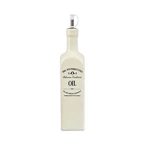 BUTLERS MRS WINTERBOTTOMS Ölflasche 600 ml in Creme - Vintage Flasche aus Steingut im englischen Design - stilvolle, klassische Aufbewahrung