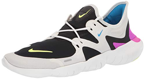 Nike Free RN 5.0, Zapatillas de Atletismo Hombre, Multicolor (Summit White/Volt Glow/Black/Blue Hero 000), 42.5 EU