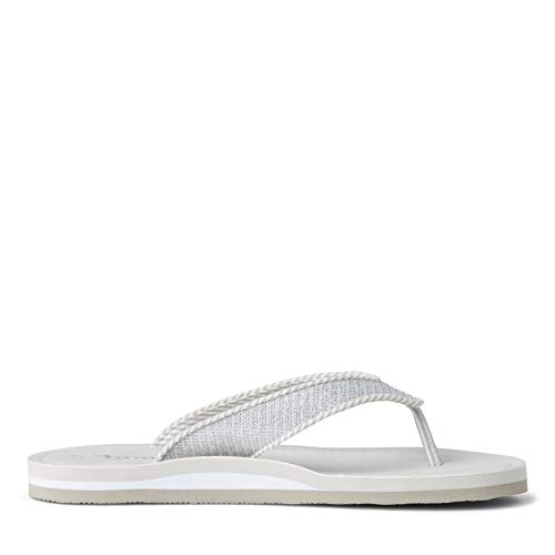 Tamaris Damen 1-1-27132-34 919 Slipper, Silver Glam, 36 EU