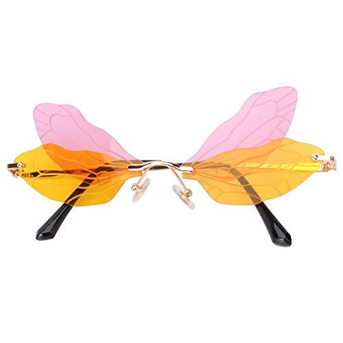 ABOOFAN Libellenflügel Brille Partybrille Fotobrille Requisiten für Urlaub