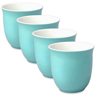 FORLIFE Japanese Teacup (Set of 4), 6.5 oz., Turquoise