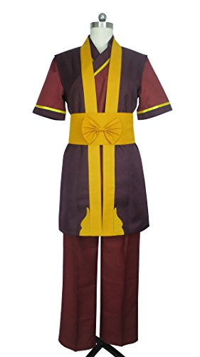 Fire Nation Royal Family Fire Lord Zuko Uniform Outfit Cosplay Costume (Male M) Brown