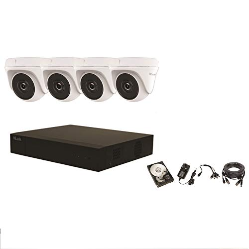 HILOOK 4 CH CCTV KIT CAJA 4X DOOM 4MP Sistema de cámara con 1TB HDD Outdoor HD-TK-4144TH-MM