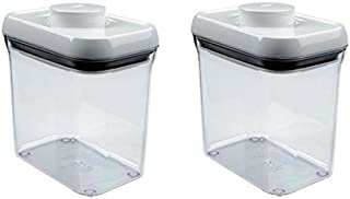 Oxo 1071400 1.5 Quart POP Rectangle Food Storage Container - Quantity 2, Clear, 1.5 Quart