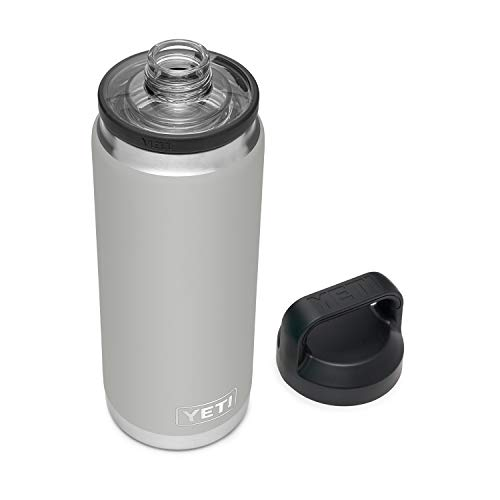 YETI Rambler 26 oz Bottle, Vacuum Insulated, Stainless Steel with Chug Cap, Granite Gray
