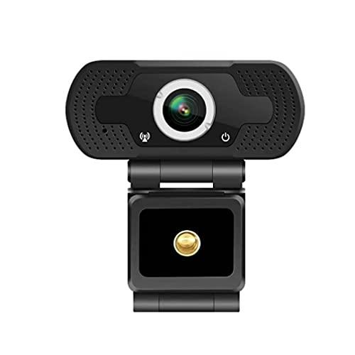 Webcam USB HD con microfono; Telecamera per videoconferenza con messa a fuoco automatica 1080P per laptop o desktop, con montaggio ad angolo.