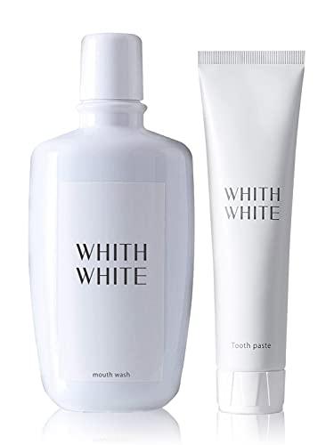医薬部外品 ホワイトニング 歯磨き粉 マウスウォッシュ セット フィス ホワイト 歯 の 黄ばみ が気になるあなたに 歯周病 口臭予防 フッ素 配合 子供 も使える 低刺激 日本製 120g & 300ml