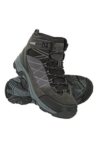 Mountain Warehouse Botas Impermeables Rapid para Mujer - Zapatos para Caminar Superiores de Gamuza y Malla, Zapatos duraderos, Botas de Suela de Goma para Damas Negro Jet Talla Zapatos Mujer 42 EU