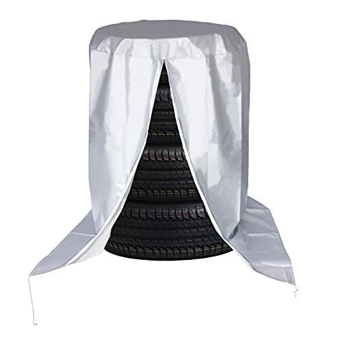 QIMEI-SHOP Auto Reifentaschen wasserdichte Reifenschutzhülle 210D Oxford-Stoff Reifen Tasche für 4 Reifentypen bis 22 Zoll Durchmesser 80 x 118 cm