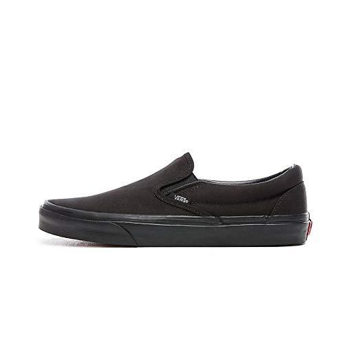 Vans - Unisex Adult Classic Slip-On Shoes in Black/Black, Size: 9 D(M) US Mens / 10.5 B(M) US Womens, Color: Black/Black