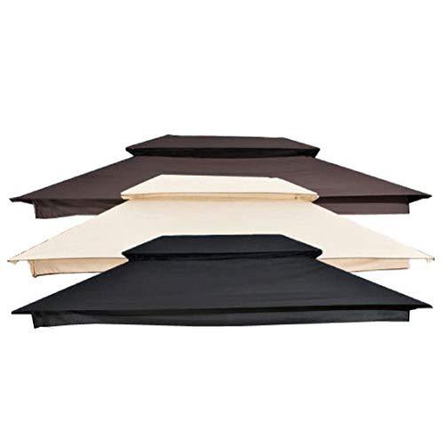 CLP Ersatzdach Für Hollywoodschaukel Kenia I Wetterschutz Für Hollywoodschaukel I Sonnendach Hängeschaukel Kenia, Farbe:schwarz