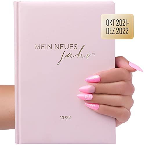 Terminplaner, Terminkalender Planer A5 Oktober 2021 – 2022 Dezember als Taschenkalender für Privat, Nagelstudio, Kosmetik. uvm mit Uhrzeit