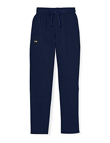 Under Armour Men's Rival Fleece Pants , Academy Blue (408)/Onyx White , X-Large Tall