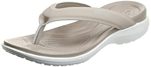 Crocs Capri V Sporty Flip W Donna Infradito, Infradito, Beige (Cobblestone), 36/37 EU