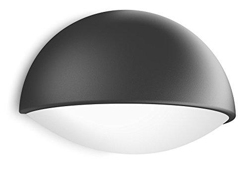 Philips myGarden Dust - Aplique para exteriores LED, luz blanca cálida, 3 W, equivalente a 27 W, IP44, color antracita