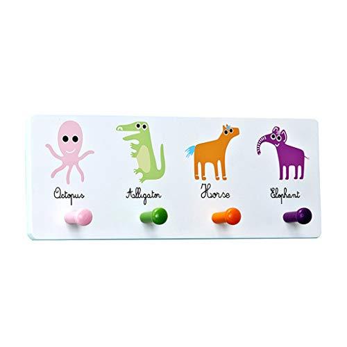 Patères pour manteaux Crochet mural créatif portemanteau simple cintre de decoration chambre support mural (Color : Blanc)